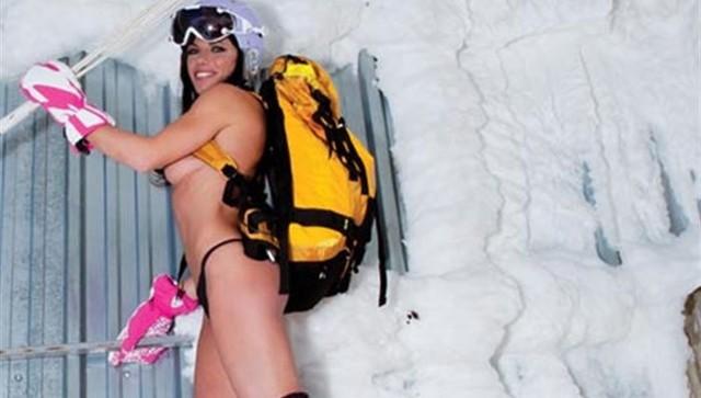 Голые фото лыжницы