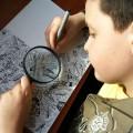 tranh, thần đồng, nhỏ tuổi, hội họa, kính lúp
