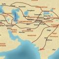 Con đường tơ lụa trải dài từ Á qua Âu được mô phỏng thời xưa