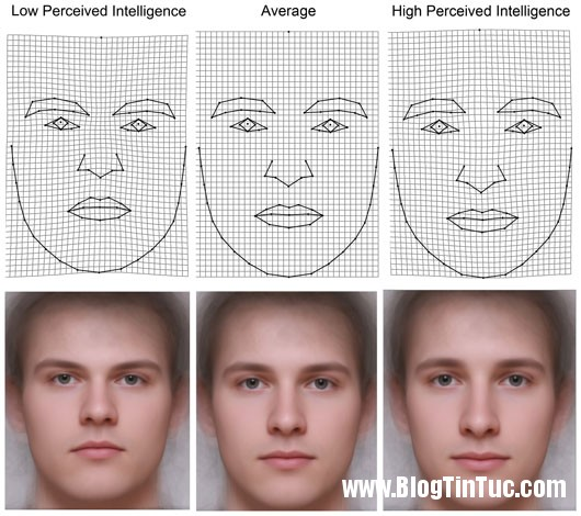 khuon mat Phụ nữ có thể đoán đàn ông thông minh qua khuôn mặt