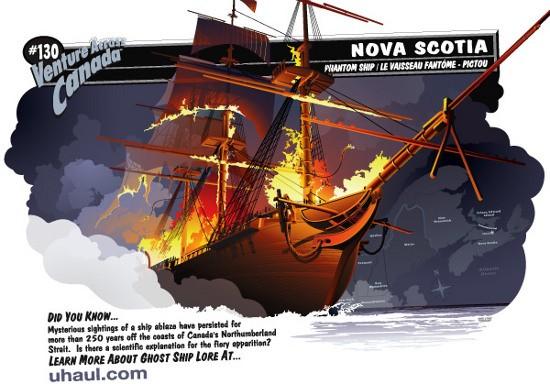 """taumaNorthumberlandStrait Bí ẩn con tàu ma tự bốc cháy """"trêu"""" người"""