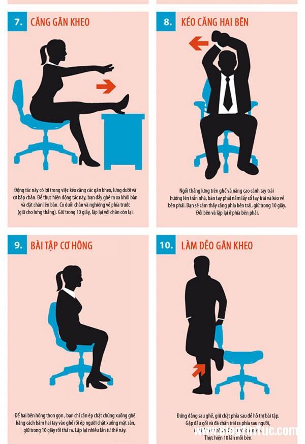 bai tap the duc 2 15 bài thể dục tập tại bàn làm việc cho dân công sở