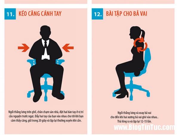 bai tap the duc 3 15 bài thể dục tập tại bàn làm việc cho dân công sở