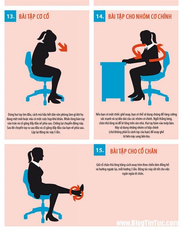 bai tap the duc 4 15 bài thể dục tập tại bàn làm việc cho dân công sở