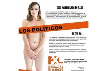20150311144816 unnamed Nữ chính khách Tây Ban Nha chụp hình khỏa thân để thu hút cử tri