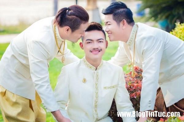 pay worlds first three way same sex marriage 1 kgix Đám cưới tay ba của 3 chàng đồng tính gây tranh cãi tại Thái Lan