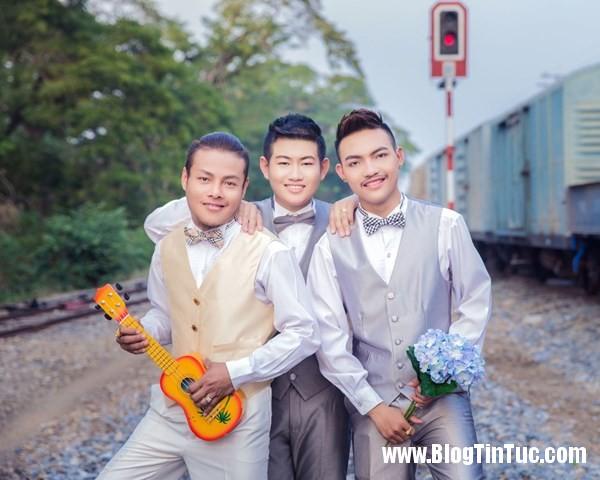 pay worlds first three way same sex marriage 2 psvs Đám cưới tay ba của 3 chàng đồng tính gây tranh cãi tại Thái Lan