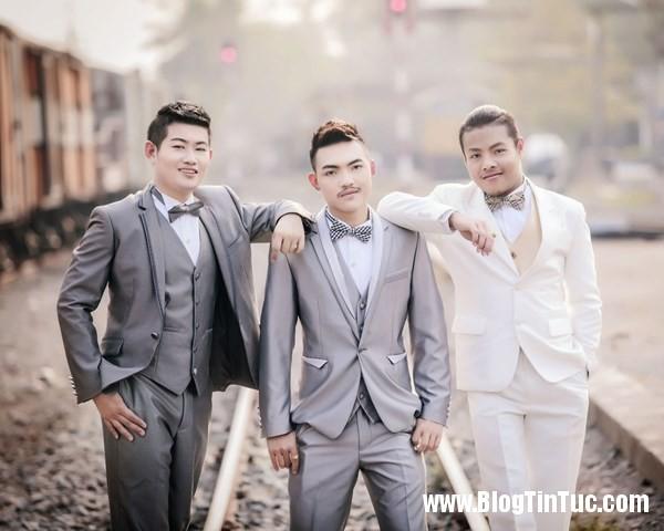 pay worlds first three way same sex marriage 3 xhsh Đám cưới tay ba của 3 chàng đồng tính gây tranh cãi tại Thái Lan