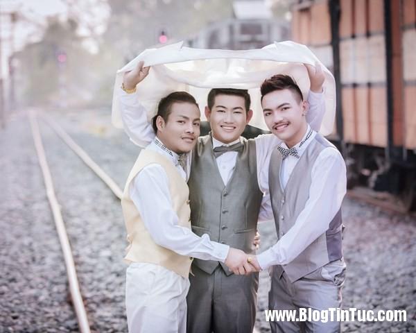 pay worlds first three way same sex marriage 4 ayqh Đám cưới tay ba của 3 chàng đồng tính gây tranh cãi tại Thái Lan