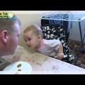 Em bé cãi nhau với bố cực dễ thương !!!